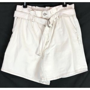 Free People beige Cindy utility shorts 9343